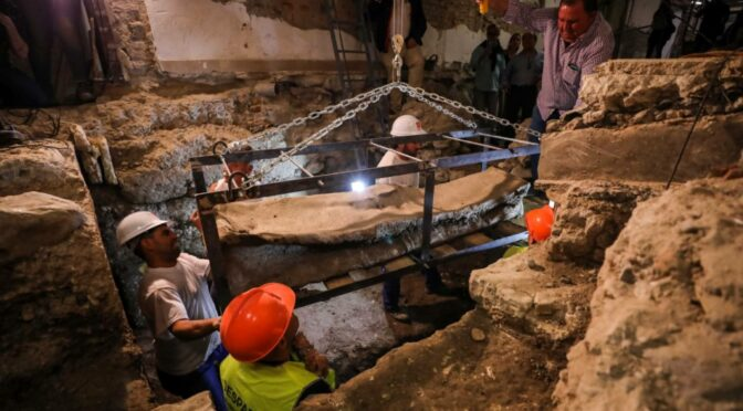 Roman Lead Sarcophagus Accidentally Found In Granada