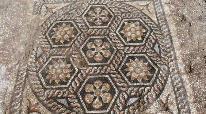 Well-Preserved Mosaic Floor Found in Roman Egypt