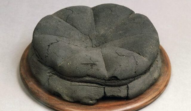 2000-year-old preserved loaf of bread found in the ruins of Pompeii