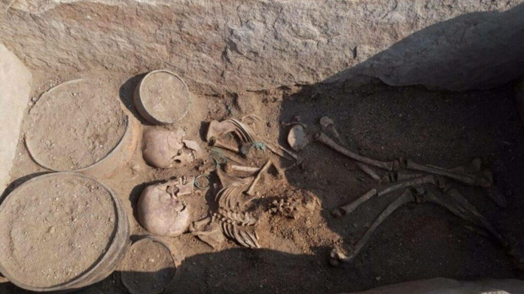 Mysterious 4,000-year-old grave reveals boy and girl buried face to face