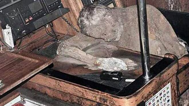 Moment horrified sailor finds mummified remains of German adventurer on stricken yacht