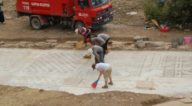 Gigantic Roman mosaic discovered under a farmer's field