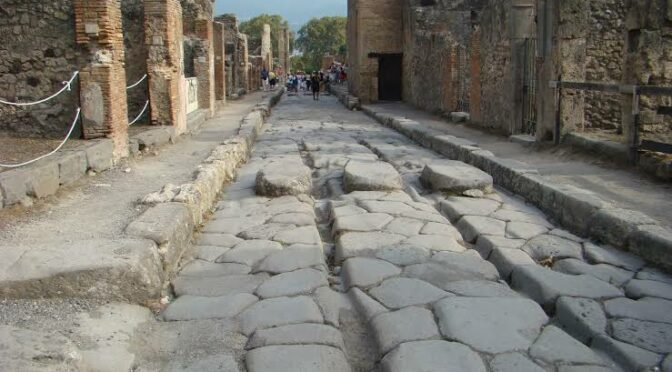 Ancient Romans Used Molten Iron to Repair Streets Before Vesuvius Erupted