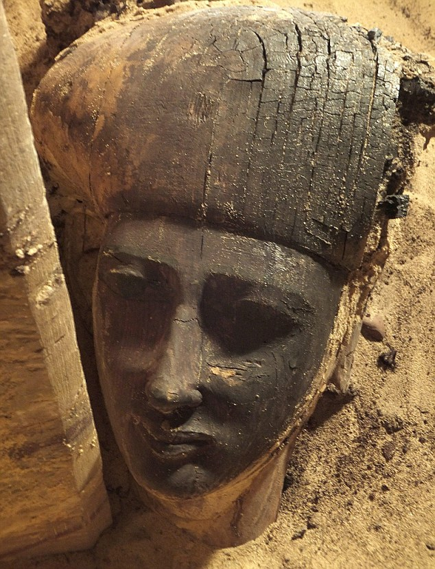 The wooden sarcophagus was found at the necropolis of Qubbet el-Hawa in Aswan, Egypt