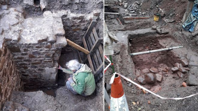 Medieval building found in Llandaff under public toilets