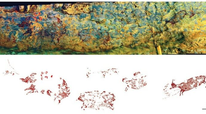 Narrative Cave Art in Indonesia Dated to 44,000 Years Ago