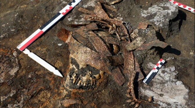 Scythian Burial With Golden Headdress Found in Russia