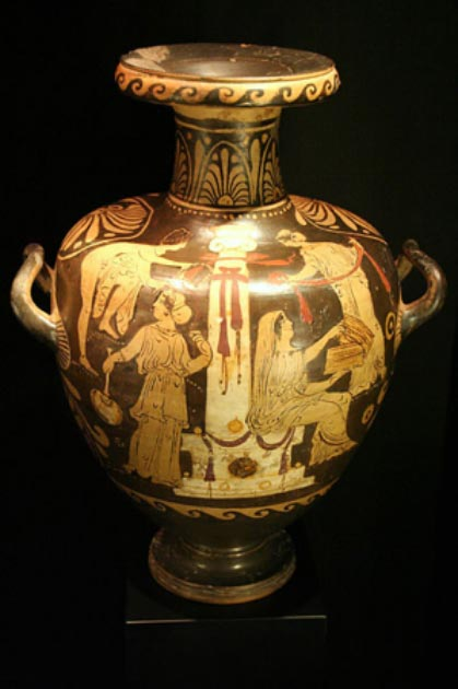 Example of an (ornate) 4 th century BC Greek hydria.