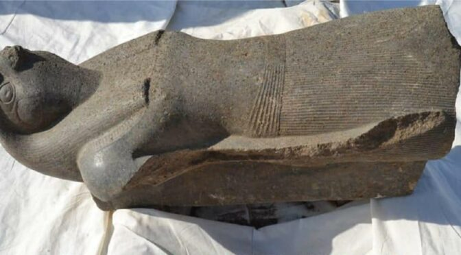 Huge Statue of God Horus Found in Egyptian Temple