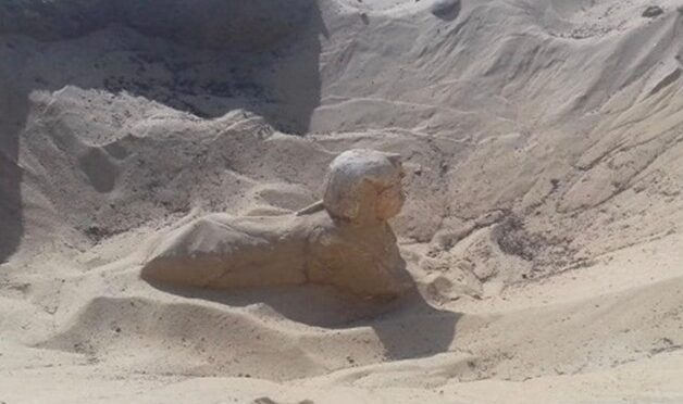Small Sphinx Uncovered at Egypt's Necropolis of Khumun