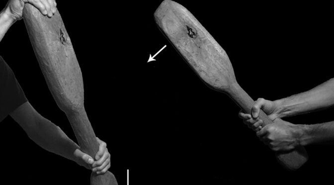 Archaeologists discover a crude ancient weapon that could kill a man with a single blow