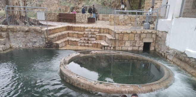 Due to heavy rain: Ritual Temple Baths now fully functional in 2000 years, for the first time.
