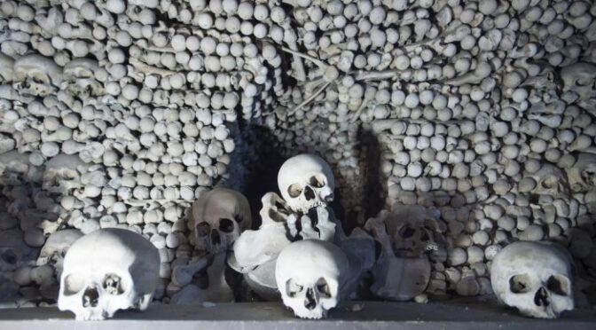 "Over 1,000 skeletons discovered during the renovation of Kutná Hora ""bone church"" in the Czech Republic"