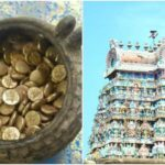 Gold Coin Cache Discovered during renovation work at Jambukeswarar Temple in India