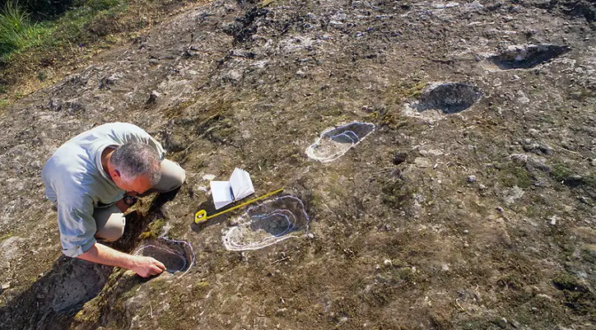 Footprints Made by Neanderthals who Walked in Lava Hours After Eruption