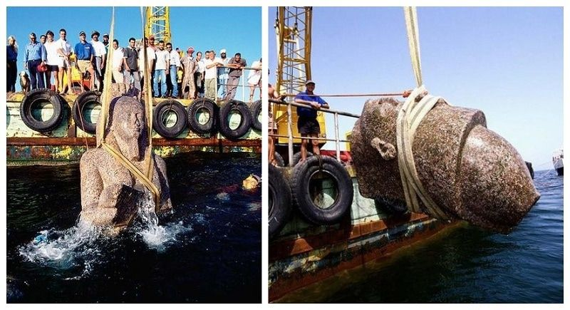 The Lost City Of Heracleion Discovered Deep Underwater After 1,200 Years