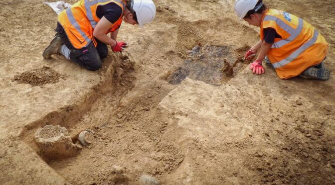 'Incredibly rare' grave of 2,000-year-old Iron Age warrior armed with a sword found