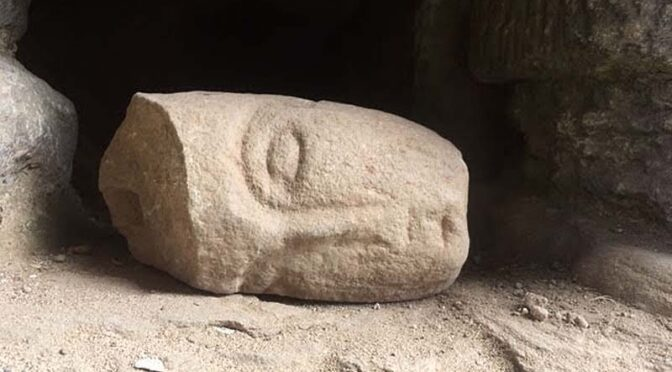 Giant '13th Century catapult stone' found at Hay Castle