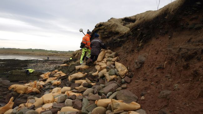 """Scottish storms unearth 1,500-year-old Viking-era cemetery Scottish Islands were once inhabited by native Picts people only, a Celtic-language speaking group, similar to the natives that live on what is nowScotland. Some powerful storms on theOrkney Islandsin Scotland have now unearthed ancient human bones in aPictishandVikingcemetery dated back to about1,500 years ago. Volunteers are now placing sandbags and clay around, in order to protect the damage to the ancient Newark Bay cemetery on Orkney's largest island. The site is dating back to the middle of the sixth century when the Orkney Islands were occupied by native Pictish people. Picts or Norse? The cemetery was used for about 1,000 years, and numerous burials from the ninth to the 15th century were Norsemen or Vikings who had seized the Orkney Islands from the Picts. Now, storm waves are destroying the low cliff where the ancient site is located, Peter Higgins from theOrkney Research Center for Archaeology (ORCA),said. """"Every time we have a storm with a bit of a south-easterly [wind], it really gets in there and actively erodes what is just soft sandstone,""""Higgins explained. Approximately 250 skeletons were taken out of the cemetery about 50 years ago, but researchers do not know how far the site extends from the beach. They believe that hundreds of Pictish and Norse bodies are still buried there. """"The local residents and the landowner have been quite concerned about what's left of the cemetery being eroded by the sea,""""Higgins said. Uncovered bones are usually either coated with clay to protect them or removed from the site after their positions are thoroughly labeled, so it is rather unusual for bones to end up on the beach, he explained. Researchers do not know yet of the exposed bones belong to Picts or Vikings, as no burial objects or funeral clothes were spotted, and the bodies were buried four of five layers under the surface. Cultural Transition Historians claim that the first Norse immigrants to the Or"""