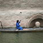 Archaeologists Investigate the Buddha Head at the Hongmen reserviour