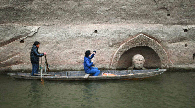 600-Year-Old Buddha Statue Discovered In China As Reservoir Water Level Drops