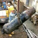 Old cannon found at the Macau construction site