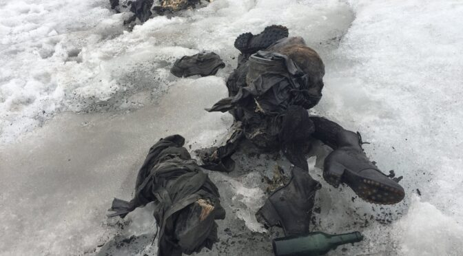 The couple got missing in 1942 found in Melting Swiss Glacier