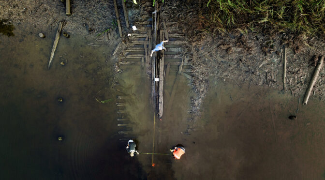"""Ghost fleet """"hidden in plain sight"""": Archaeologists are uncovering more than a dozen historic vessels from Nansemond River Virginia."""