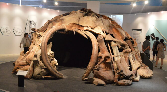 Check out this striking 25,000-year-old hut built out of mammoth bones