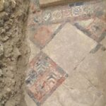 Decorated medieval tiles found under Bath Abbey floor