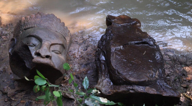 Statue Fragments Found Near Cambodia's Bayon Temple