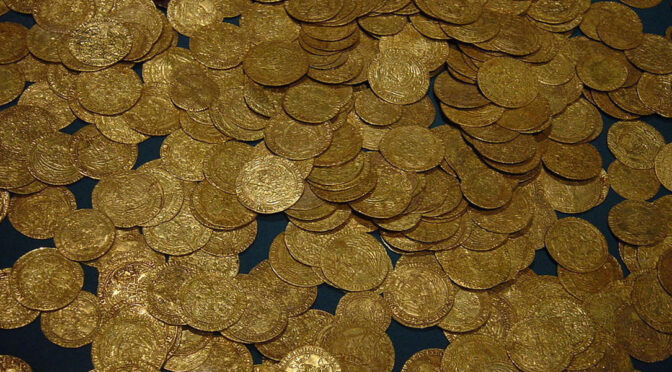 The cache of Ancient coins and Jewelry From the time of Alexander the Great