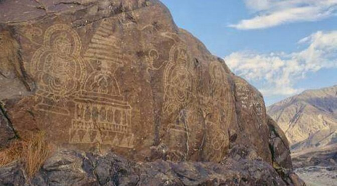 Chinese built a dam to submerge engraved heritage rocks of Buddhism in Gilgit Baltistan
