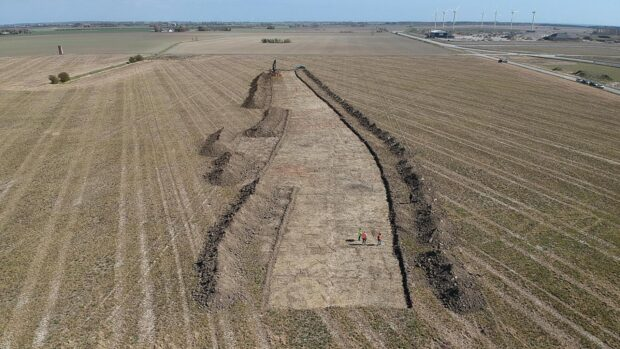 Archaeologists discover giant defensive minefield from the roman iron age