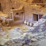 The ancient buried city of Akrotiri, Santorini: Greece Pompeii