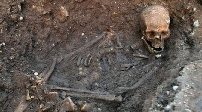 The remains were believed to be Richard III