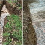 Roman mosaic floor has been discovered under a vineyard in northern Italy