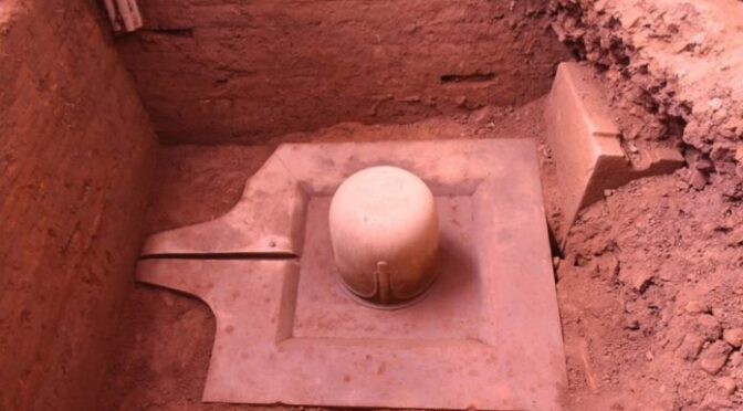1100-year-old monolithic sandstone Shivling unearthed in Vietnam's Cham temple complex
