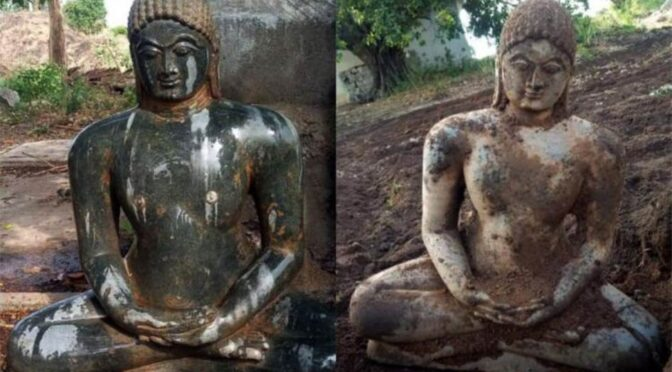 8th Century Jain Idol Found By Farmer While Ploughing Fields In Southern India