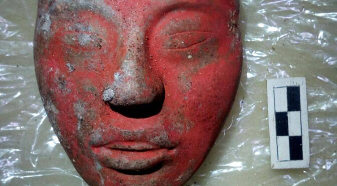 "The tomb of Mayan ""God-King"" discovered in Guatemala, his status determined by the carved jade mask"