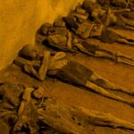 Mummified monks and the accidentally interred, in a 17th-century crypt.