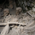 Remains of the Inhabitants of Herculaneum who took shelter in the coast buildings during Vesuvius eruption