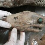 Well preserved 700-year-old mummy found by chance by Chinese road workers