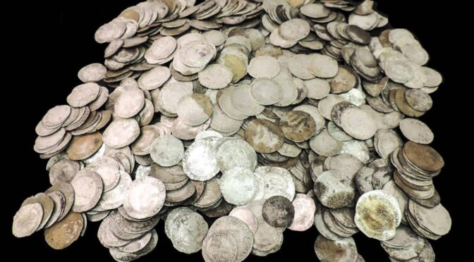 Coins buried during the English Civil War found on the farm