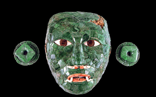 Mask of the red queen A.D 670 Mexico