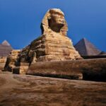 The second sphinx buried in sand in Egypt Giza plateau, pyramid much older than believed, researchers