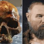 The stunning 3D face of 'jawless' Stone Age man whose head was found on a SPIKE revealed