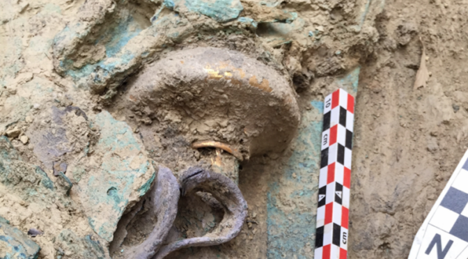 Rare warrior tomb filled with bronze age wealth and weapons discovered