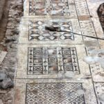 The archaeological team uncovers massive Roman mosaic in southern Turkey