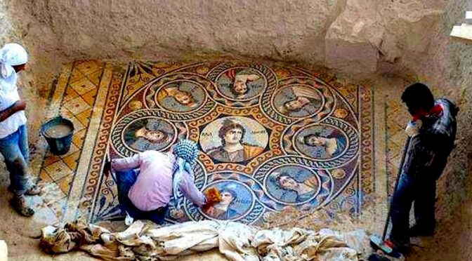 1,300-year-old colorful mosaics Discovered by Archaeologists in Israel